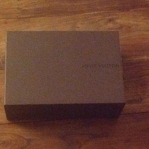 Louis Vuitton shoe box and dust bags
